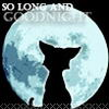 Аватар кошка на фоне луны