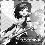 Аватар Рок-звезда. Черно-белый аватар