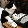 Аватар Черно-белая кошка работает за компьютером (© ), добавлено: 03.05.2008 19:52