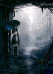 Аватар Девушка в пустом городе под дождем (© Леона), добавлено: 17.09.2008 10:10