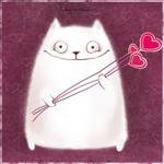 Аватар Котик с сердечками