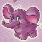 Аватар фиолетовый слоник
