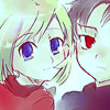 Аватар Аниме, светлая девочка с голубыми глазами и темненький мальчик с красными глазами (© Mirrorgirl), добавлено: 29.04.2009 17:25