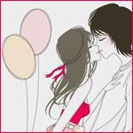 Аватар Девушка целует парня