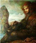Аватар Девушка с волком