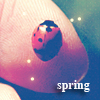 Аватар Весна, божья коровка на пальце, spring