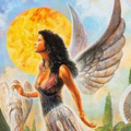 Аватар Фентези ангел на фоне солнца