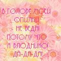 Аватар герберы, в голове моей опилки-не беда! потому что я блондинко! да-да-да (© Radieschen), добавлено: 20.07.2009 00:56