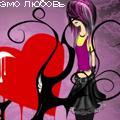 Аватар Девочка эмо и кровавое сердце, эмо любовь