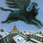 Аватар Полёт крылатого кота над городом