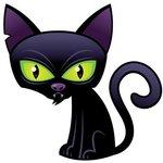 Аватар К мышке сатанинский чёрный кот