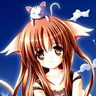 Аватар девушка с котенком на голове