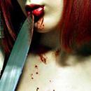 Аватар девушка облизывает нож