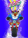 Аватар 2010, тигр на мотоцикле
