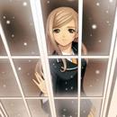 Аватар за окном снег