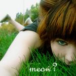 99px.ru аватар Девушка лежит на траве (meow?)