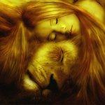 Аватар Девушка со львом