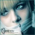 Аватар Девушка с завязанным ртом ('I miss you' / 'Я скучаю по тебе')