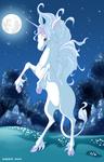 Аватар Единорог лунной ночью