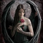Аватар Тёмный ангел с розой
