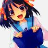 Аватар Харухи Судзумия из аниме 'Меланхолия Харухи Судзумии' в школьной форме