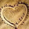 Аватар нарисованное сердце на песке
