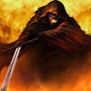 Аватар Демон с мечем выбирается из пламени