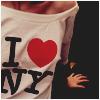 Аватар на девушке футболка I love New-York
