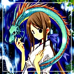 Аватар девушка с драконом