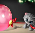 Аватар Котёнок и ёлочный шар!