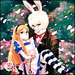 Аватар Кролик и Алиса (арт по «Алисе в стране чудес»)