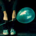 Аватар Девушка с бирюзовым шариком