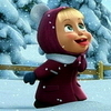 Аватар Маша ловит снег из мультфильма «Маша и медведь»