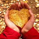 Аватар В руках у человека осенний листок в виде сердца