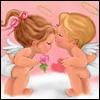 Аватар Мальчик ангел дарит сердце девочке-ангелу