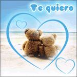 Аватар Двое мишек на пляже в сердечке (Te auiero)