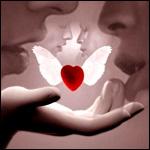Аватар Сердечко с крыльями и двое влюбленных