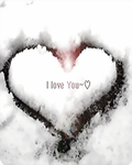 Аватар Сердце из снега (I love You)