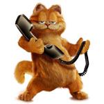 Аватар Гарфилд  с телефоном