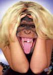 Аватар Коллаж:девушка с лицом обезьяны