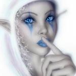 Аватар Эльфийка с белыми волосами и голубыми глазами держит палец у рта (© Lunna), добавлено: 16.02.2011 14:31