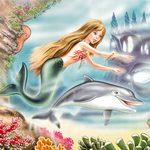 Аватар Девочка-русалка с дельфином