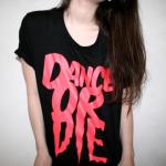 Аватар Девушка в майке с надписью Dance or die