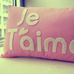 Аватар Подушка с надписью Je T'aime