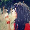 Аватар Девушка с цветком.