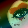 Аватар Девушка с нарисованным на лице сердечком (love)