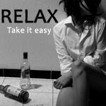 Аватар Девушка возле бутылок от алкоголя (RELAX Take it easy)