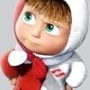 Аватар Маленькая Машенька в красно-белом пальто и шапке