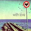 Аватар Знак с сердечком на фоне моря (with love)