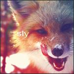 Аватар Лисица облизывает заснеженный нос ('Sly' / 'Хитрая')